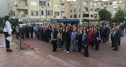 10 Ekim'de yitirilenler Narlıdere'de anıldı