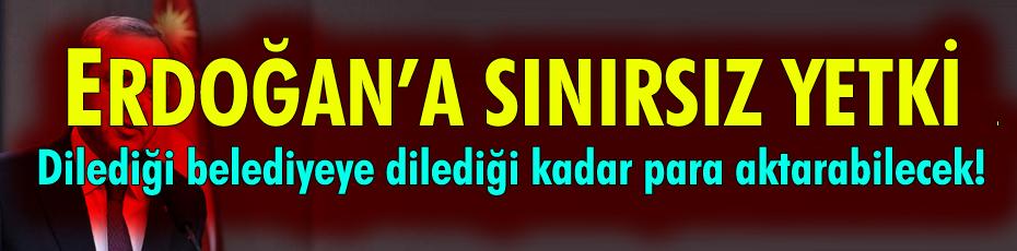 Erdoğan'a sınırsız yetki: İstediği kadar para aktarabilecek