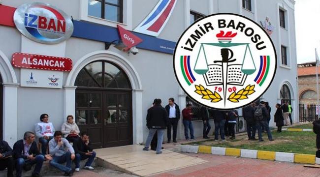 İzmir Barosu İZBAN grevinin ertelenmesine tepki gösterdi