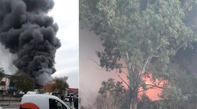 İzmir'de fabrika yangını!