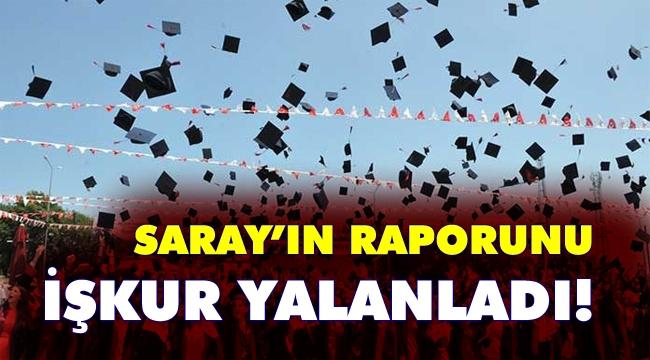 Saray'a göre her şey toz pembe: Üniversite mezunları 5 ayda iş buluyormuş!