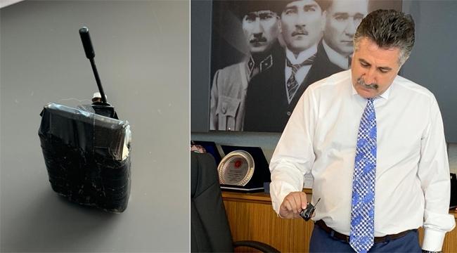 Bayraklı'da skandal! Başkanın odasında dinleme cihazı bulundu