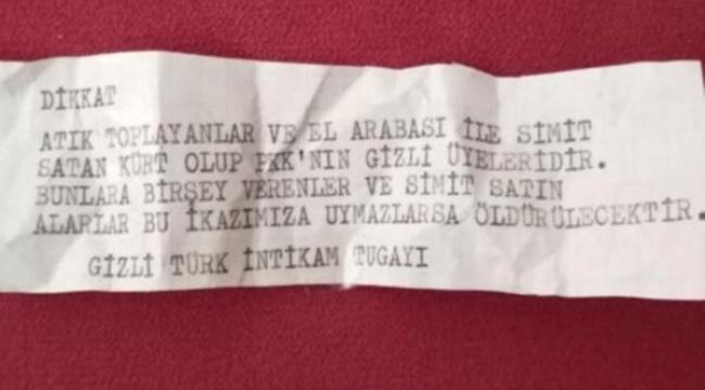 İzmir'de evlere tehdit mesajı