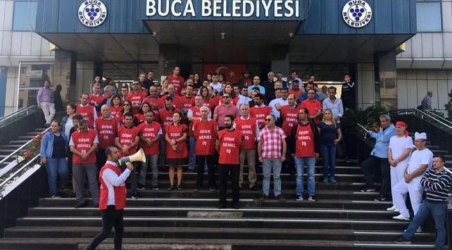 Buca Belediyesi işçileri: Alacaklarımız eksiksiz yatırılsın