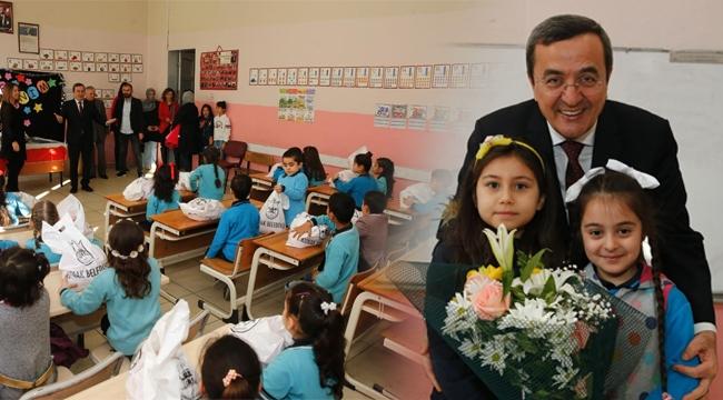 Başkan Batur, miniklerin karne heyecanına ortak oldu