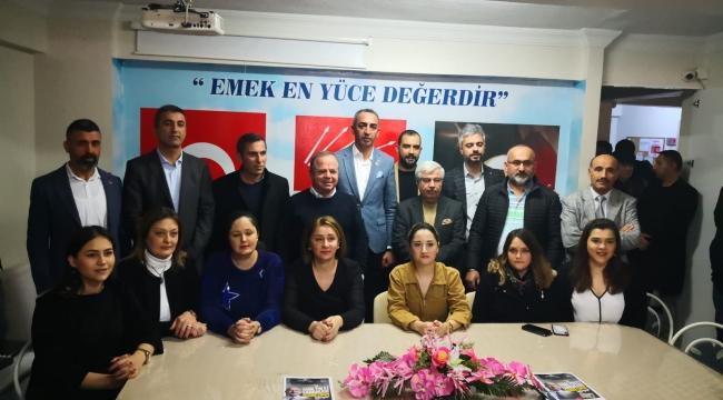 CHP Menemen'in yeni başkanı göreve başladı