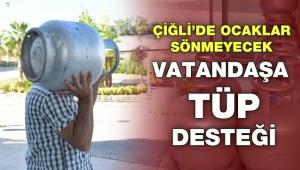 Çiğli'de ocaklar sönmeyecek: Vatandaşa tüp desteği