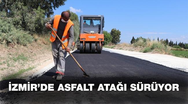 Asfalt ekipleri hafta sonu Torbalı, Çeşme ve Dikili'de mesai yaptı