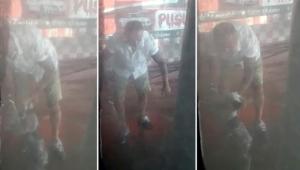 İzmir'de oto yıkamacıda yavru köpeğe işkence kamerada