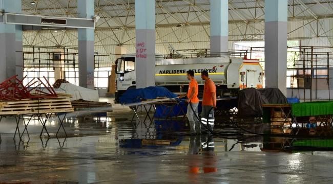 Narlıdere'de kurban kesim yerlerinde çalışmalar tamamlandı