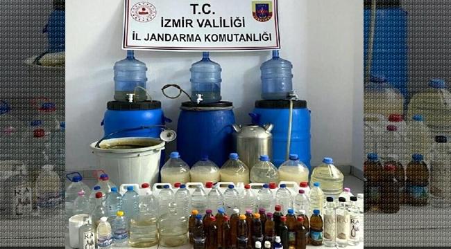 İzmir'de 462 litre sahte içki ele geçirildi