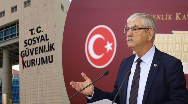CHP'li Beko'dan Erdoğan'a belgeli SGK yanıtı!