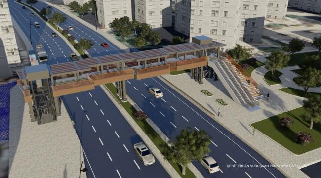 İzmir Büyükşehir Belediyesi'nden üst geçit projelerine estetik dokunuş