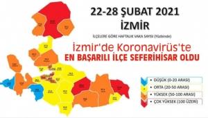 İzmir'de koronavirüs risk haritasında iki ilçe mavi renkte