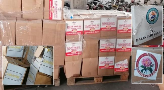 İzmir'de AKP'li belediye deprem için gelen yardımları stoklayıp ramazan kolisi olarak dağıttı