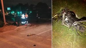 Kaldırıma çarpıp, 30 metre sürüklenen motosikletli öldü