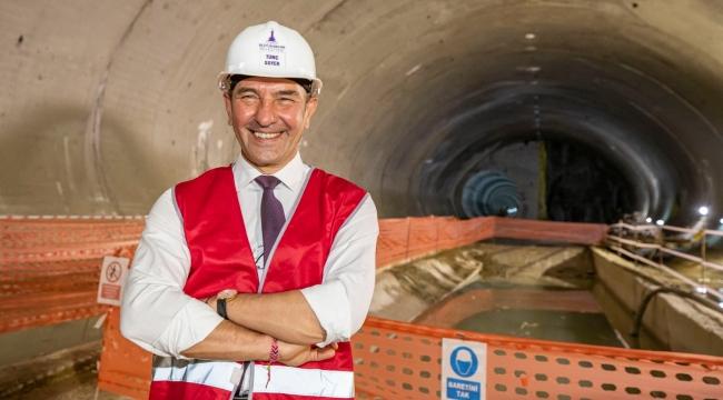 Narlıdere metro hattı yüzde 77 oranında tamamlandı