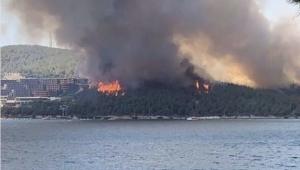 Yanan ağaçların yerine dikilen otel, bugün çıkan yangın nedeniyle tahliye edildi!