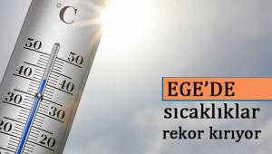 Ege'de sıcaklıklar rekor kırıyor